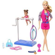 Barbie® Gymnastic Coach Dolls & Playset