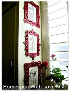 Homespun With Love: Home Decor: Vintage & Modern DIY Kitchen Art