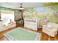 A jungle themed nursery for your curious little one. #nursery #kidsrooms #interiordesign