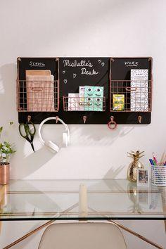 Chalkboard Wall Storage Organizer | Urban Outfitters