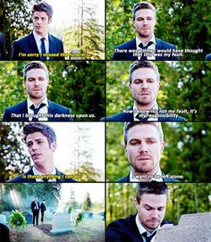 Arrow - Barry & Oliver #4.1 #Season4 just tell me. I need to know.....