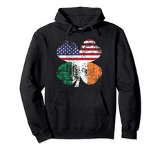 USA and Irish flags hoodie in all colors and sizes. Distressed flags in four leaf clover, patriotic design. Irish Flags, Funny Dancing Gif, Men's Hoodies, Four Leaf Clover, Denim Jackets, Man Alive, Cool Items, Cricut Design, Sexy Men