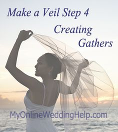 Step 4 of the 5 step How to Make a Wedding Veil series. (Find all steps together at http://veils.myonlineweddinghelp.com/make-veil )
