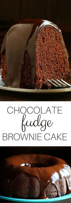 Granny's Chocolate Fudge Brownie Cake!