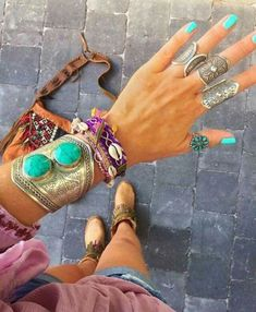 Bohemian gypsy jewelry – Just Trendy Girls Bohemian Jewellery, Gypsy Jewelry, Trendy Accessories, Bohemian Gypsy, Bangles, Bracelets, Turquoise Stone, Boho Chic, Gemstones