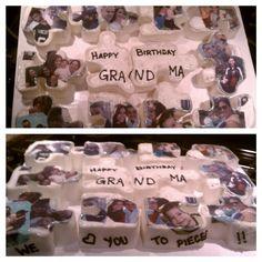 Puzzle pieces cake