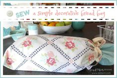 Sewing a simple bread bag...