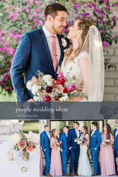 Purple Wedding Ideas Floral Color Palettes - the perfect purple flowers and purple color palettes for the Arizona bride and groom. The colorful wedding color palettes are seen in bridal bouquet, bridesmaid bouquets, centerpieces and ceremony wedding flowers. Spring, winter, and fall wedding floral arrangements with purple flowers and purple floral accents for a Phoenix wedding ceremony and reception. Photos by Susannah Lynn. Purple Wedding Decorations, Purple Wedding Flowers, Floral Wedding, Fall Wedding, Wedding Colors, Wedding Ceremony, Reception, Wedding Ideas, Scabiosa Flowers