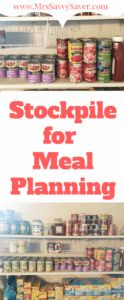 How to build a Stockpile for easy meal planning. It all starts by selecting recipes for breakfast, lunch and supper. This is  step by step guide with free PDF to begin meal planning!