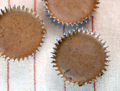 healthier cranberry chocolate truffles: coconut oil, coconut butter, dark chocolate, dried cranberries and stevia  {Elana's Pantry}