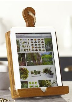DIY Holder for iPads / Tablets - genius idea for the modern chef