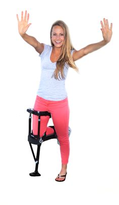 The iWalk is the only crutch alternative that allows you to continue living an independent (and hands free) lifestyle even when recovering form a lower leg injury that requires crutches.