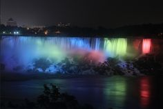 Niagara Falls in red yellow blue - : Yahoo Image Search Results
