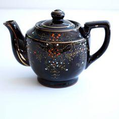 vintage teapots | vintage 50s japan brown teapot. | home