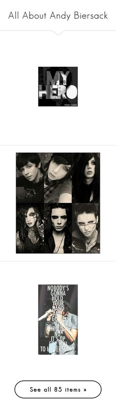 """All About Andy Biersack"" by polly-426 ❤ liked on Polyvore featuring accessories, black veil brides, bvb, andy, band, quotes, home, home decor, andy biersack and pictures"