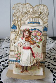 Vintage Greeting Pop Up Card Germany Antique by willowpaige, $12.00