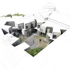 HIC*: Amann-Cánovas-Maruri Arquitectos | Hospedería en Extremadura #arquitectura #dibujos #perspectivas
