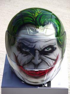 The Joker Custom Airbrush Painted motorcycle helmet #HJC
