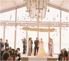 Since my wedding is now during March, inside, I'm needing inspiration....What We Adore About Indoor Wedding Ceremonies