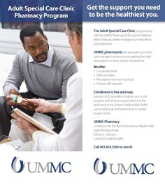 University of Mississippi Medical Center Adult Special Care Clinic – Patient Pharmacy Program Panel Card (Oct. 2015)
