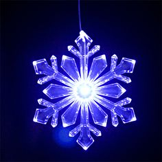 lighted outdoor snowflake ornament design bluewhite led with 6 hr timer string lights and party lights