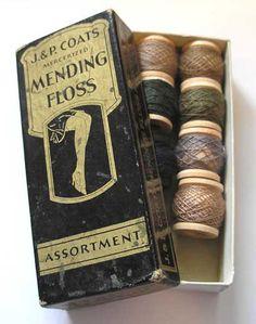 old mending floss...