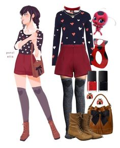 """""""Miraculous ladybug"""" by impala-princess ❤ liked on Polyvore featuring Lemon, Fat Face, Chanel, Les Néréides, NARS Cosmetics and Charlotte Russe"""