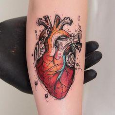 Heart by @robcarvalhoart in Sao Paulo Brazil. #illustratedheart #heart #robcarvalhoart #saopaulo #brazil #tattoo #tattoos #tattoosnob