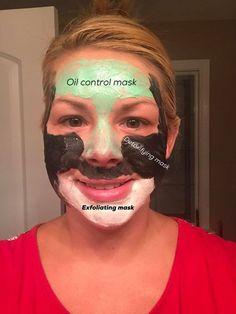 Detoxifying mask, oil control mask, exfoliating mask