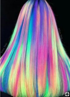 Glow-In-The-Dark Hair - Glowing Phoenix Neon Hair # Glowing # Hair . - Glow-In-The-Dark Hair – Glowing Phoenix Neon Hair - Neon Hair Color, Hair Dye Colors, Purple Hair, Rainbow Hair Colors, Pastel Rainbow Hair, Unicorn Hair Color, Ombre Color, Ombre Hair, Color Blue