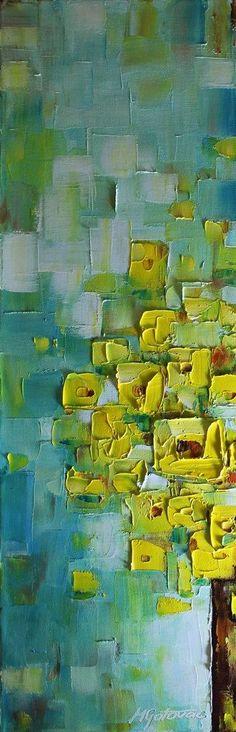 Original Oil Painting- Peek a Boo- Modern ,Contemporary,Palette Knife, 8x24. $110.00, via Etsy.: