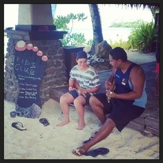 Ukulele lesson at the beach hut #PacificResort #Rarotonga #ukulele #fun #beach #islandlife #gottastartsomewhere