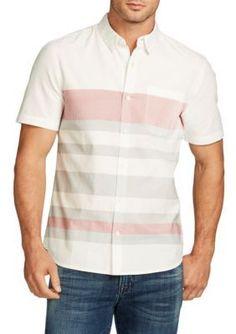 WILLIAM RAST   Short Sleeve Fulton Stripe Shirt