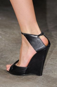 in love with these wedges by narciso rodriguez even though wearing them would mean I would be very tall.