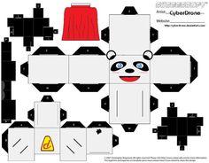 Cubee - Hero Panda by CyberDrone.deviantart.com on @deviantART
