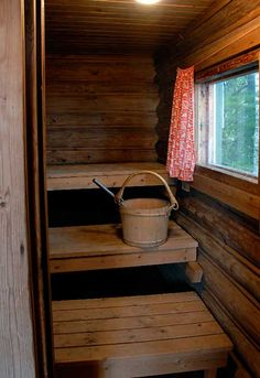 Relax and enjoy the sauna at Villa Matilda Portable Steam Sauna, Outdoor Sauna, Sauna Design, Finnish Sauna, Swedish House, Painted Doors, Big Houses, House In The Woods, Matilda
