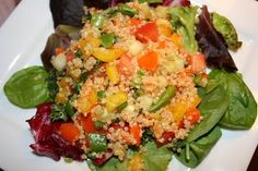 Quinoa Salad - Super healthy salad made with quinoa and a variety of fresh vegetables. www.ultimatedanielfast.com