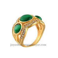 anillos de esmeralda en acero inoxidable al por mayor