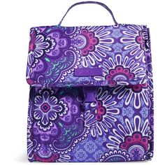 Vera Bradley Lunch Sack in Lilac Tapestry ($34) ❤ liked on Polyvore featuring home, kitchen & dining, lilac tapestry and vera bradley