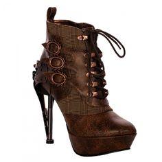 ebc7d83cd41aec Mechanical Steampunk Brown Boots Steampunk Stiefel