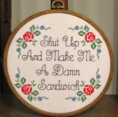 31 Gangster Cross-Stitches That Would Make Your Grandmother Proud