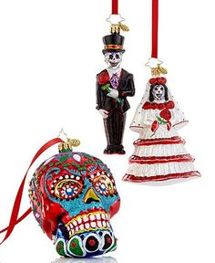 Christopher Radko Holiday Ornaments, Day of the Dead Collection - Christmas Ornaments - Holiday Lane - Macy's