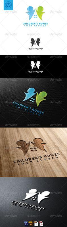 Children Homes Logo Template (Humans)