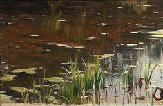 PEDER MORK MONSTED - Um lago tranquilo na floresta   Óleo sobre tela - 82,5 x 117,4 - 1904     De todos os motivos dentro da temática de...