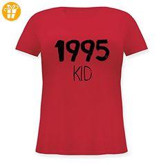Geburtstag - 1995 KID - XL (50/52) - Rot - JHK601 - Lockeres Damen-Shirt in großen Größen mit Rundhalsausschnitt (*Partner-Link)