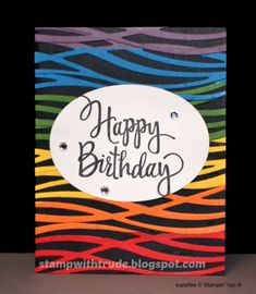 Stylized Birthday, Swirly Scribbles, Stamp with Trude, Tuesday Tutorial, Stampin' Up!, birthday card