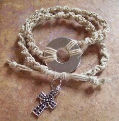 Southern OOAKS, double macrame bracelet. Closure goes in the front.