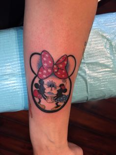 Minnie Mouse Tattoo On Foot