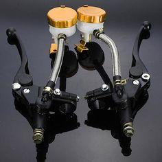 [US$49.04] 1pair 7/8inch Motorcycle Handlebar Hydraulic Brake Master Cylinder #1pair #78inch #motorcycle #handlebar #hydraulic #brake #master #cylinder