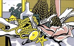 Roy Lichtenstein - Cape Cod Still Life, oil and Magna (plastic resin paint) on canvas (USA) ca.1972